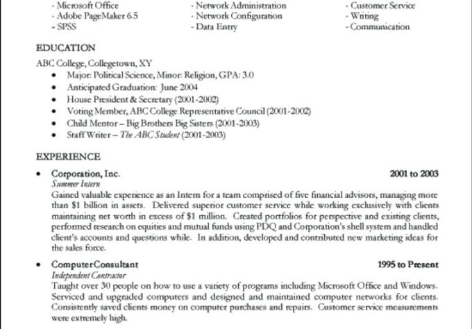 english resume templates