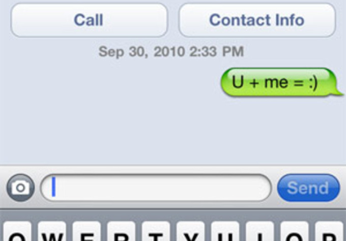 Examples of dating text messages