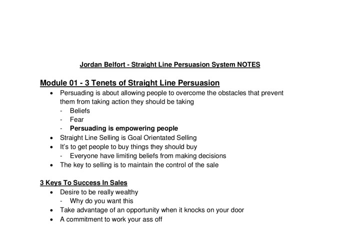 Jordan belfort straight line persuasion home study course