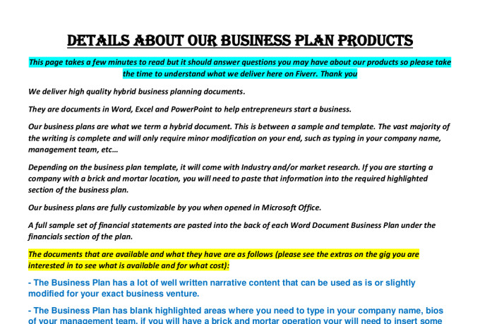 Janitorial business plan
