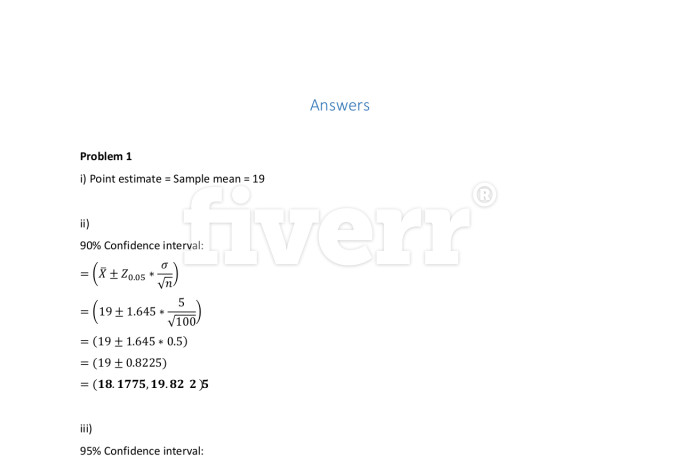 Statistics homework services