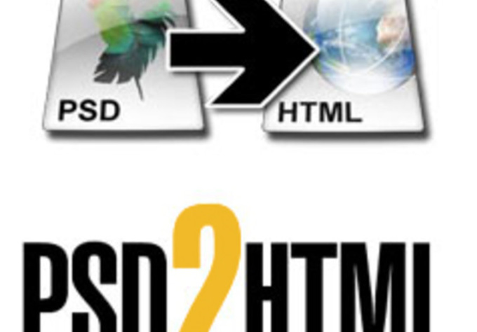convert your psd design into html + css design