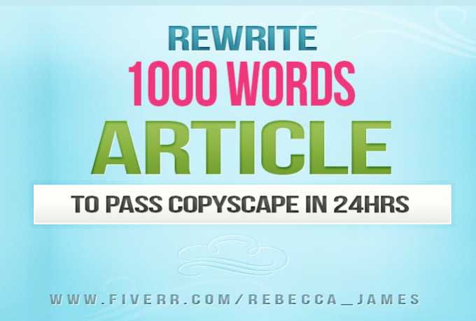 Rewrite to pass copyscape