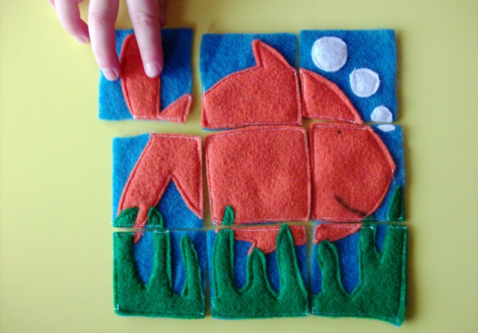 hand make your child a simple 9 piece felt puzzle