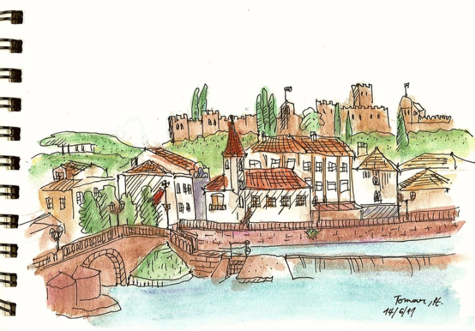 draw any city or landscape with watercolor