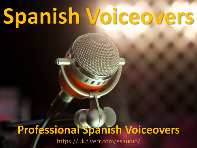 make you a Spanish VOICEOVER voice over for your advert, presentation or ebook
