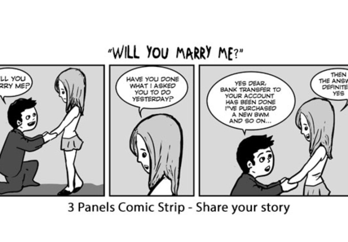 Draw A Comic Strip To Share Your Ideas Fiverr