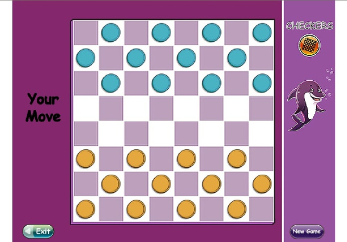 create a great Checkers Game which will speak to your child using his own name