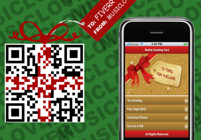 create An Unique QR Mobile Christmas ECard