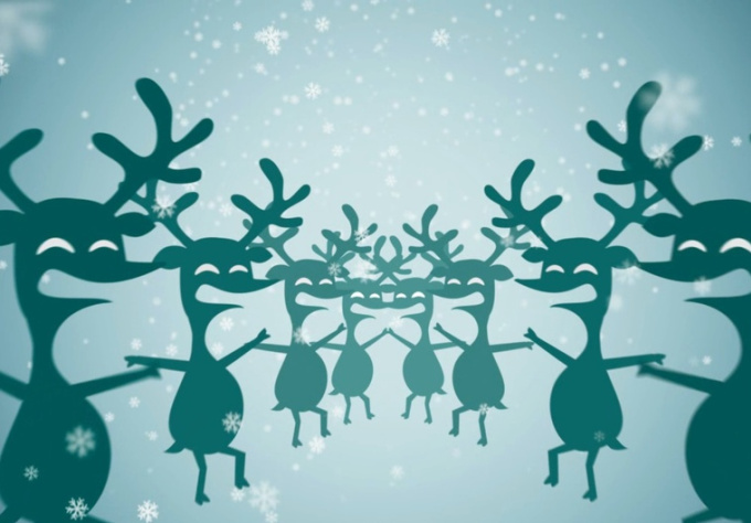 personalize this Cheerful, Dancing Reindeer and Santa filled,  HOLIDAY Video Greeting