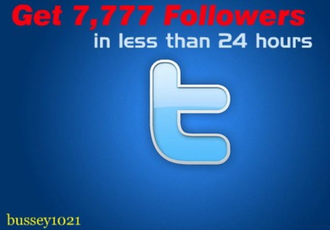 give you over 7777 Twitter Followers No Eggs No Unfollows and without Admin Access