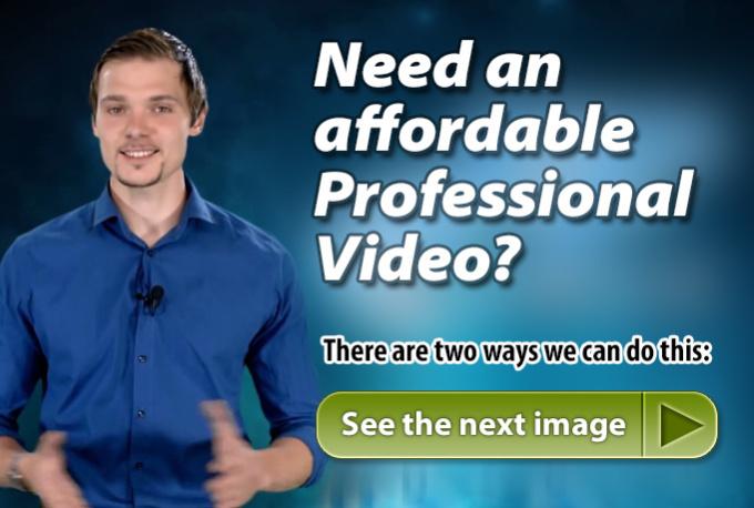 make professional V I D E O commercial
