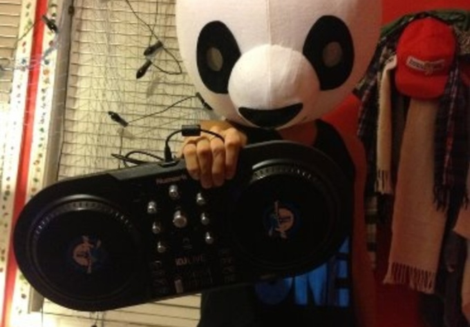 wear Panda costume and say your message