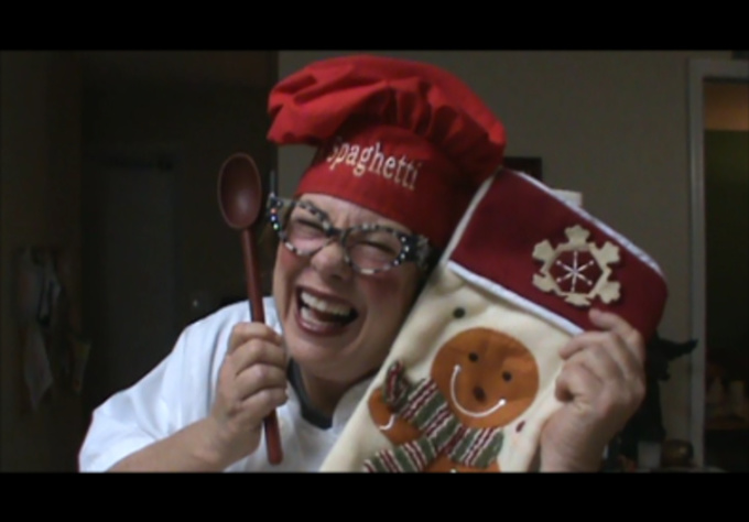 personalized Video Holiday greeting from World Famous Chef Betty Spaghetti