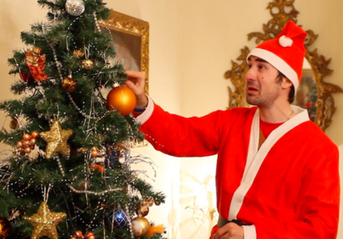 make a Santa De Niro Christmas Video