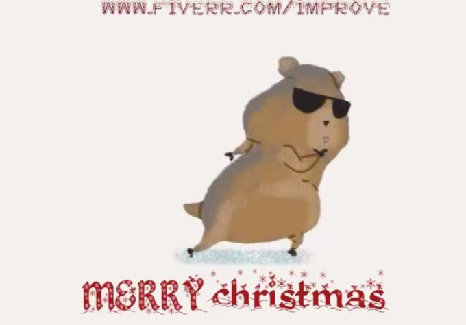 create a video of Hamster dancing on gangnam style song displaying your message