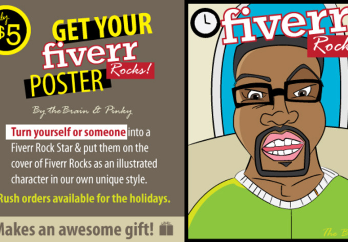 create you a one and only fiverr rocks poster makes and awesome gift