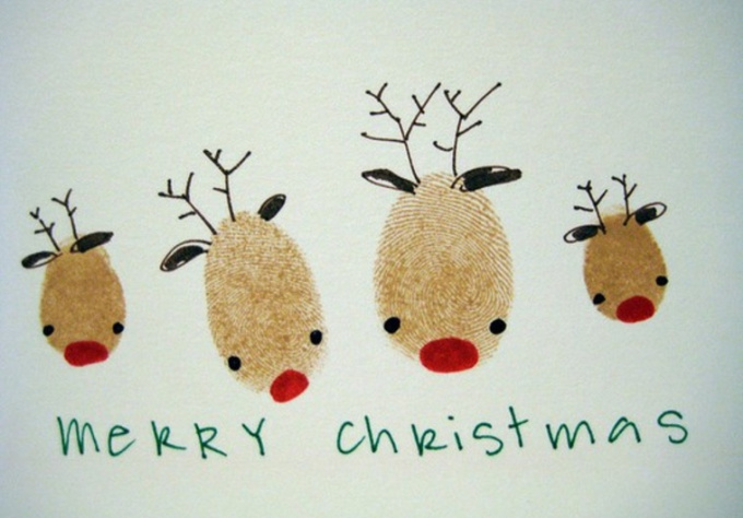 Draw a holiday greeting card fiverr for Reindeer christmas card craft