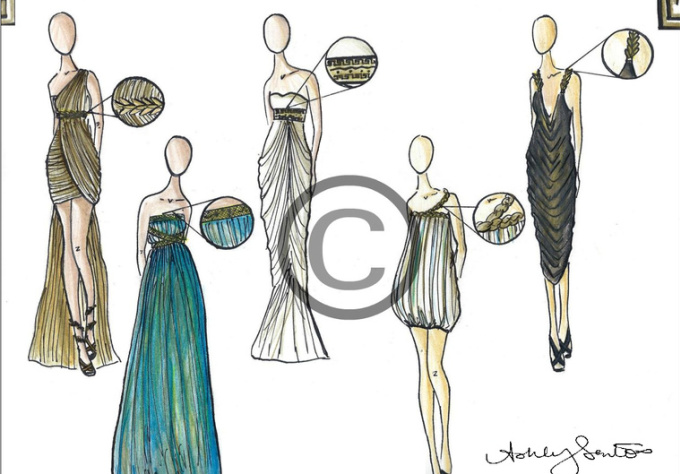 draw any dress or outfit design idea you have