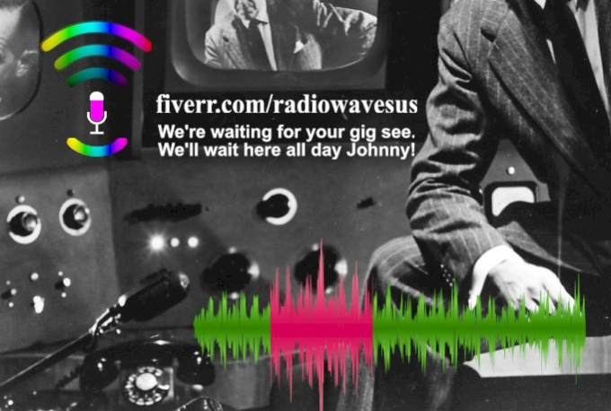 create an Authentic Old Time Radio Audio Voice Over