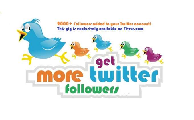 add 2000 Twitter Followers