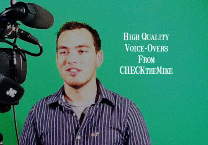 record a 60 second professional voice over