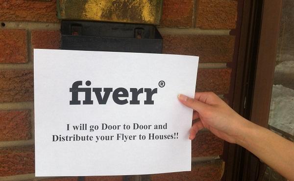 go Door to Door and Distribute 50 Flyers to 50 Houses in Toronto Canada