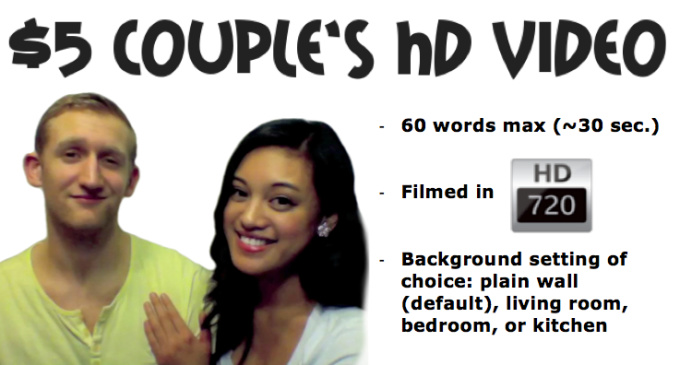 make a natural and genuine couples testimonial/review video in HD