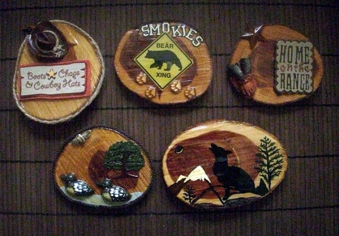 create a cedar decorator magnet