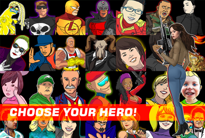 draw your superhero alter ego