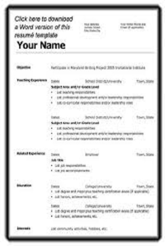 Professional resume samples in word format – Resume Samples in Word Format