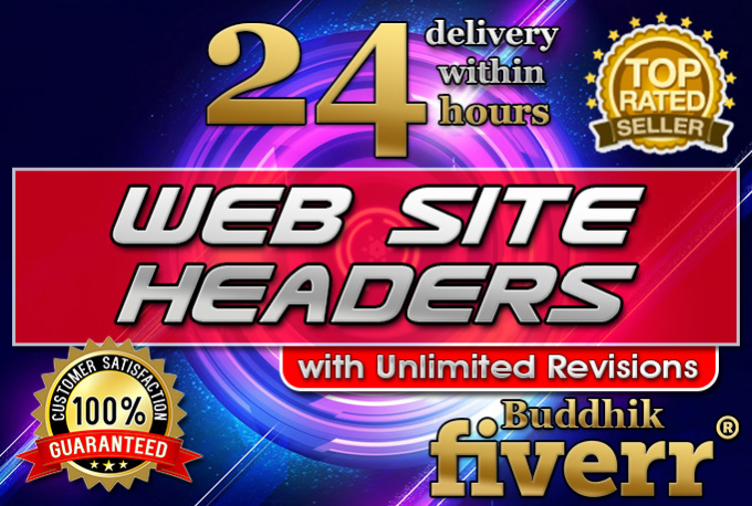 design professional website headers, banners, covers within 24 hours