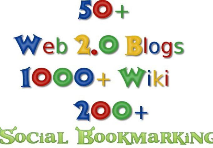 build MULTI tier link pyramid with over 50 web 2 properties+over 1000 wiki+over200 social bookmarking backlinks