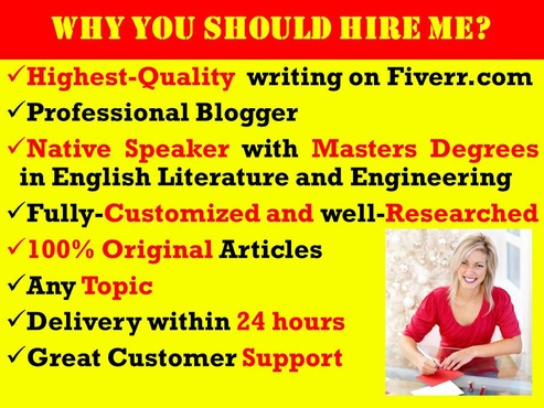 write a fully customized high quality 100 to 500 word blog post or article under 24 hours with unlimited free editing