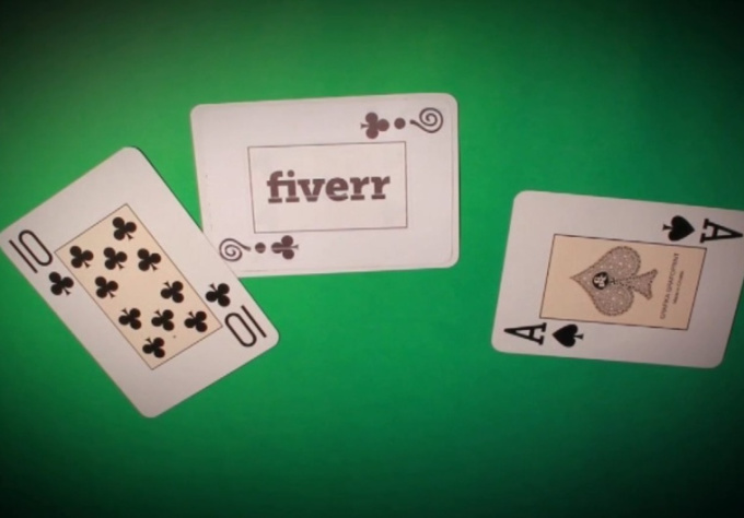make a card magic trick with your logo