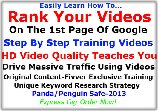 show You How To Easily Rank Any Video, Using Most Any Keyword, On The 1st Page Of Google