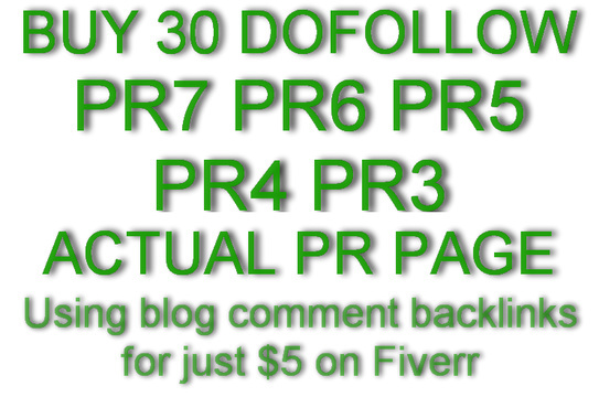 manually create 30 Pr7 to PR3 of Actual Page DOFOLLOW Backlinks