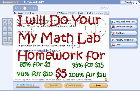 Do my math lab homework