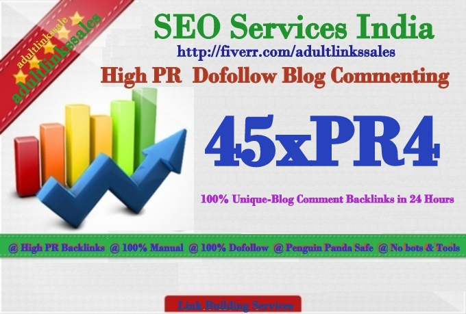 do High PR quality 45xPR4 Dofollow  Blog Commenting on Unique domains in 1 Days
