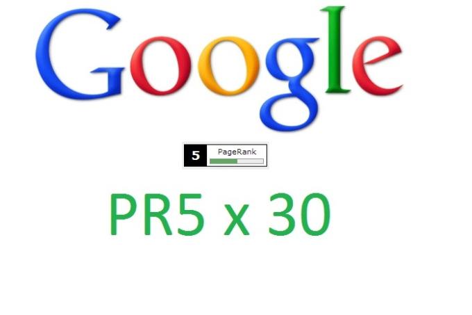 get your website 30 PR5 Backlinks