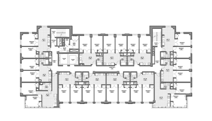Draft 2d autocad archtectural drawings including p for Typical office floor plan