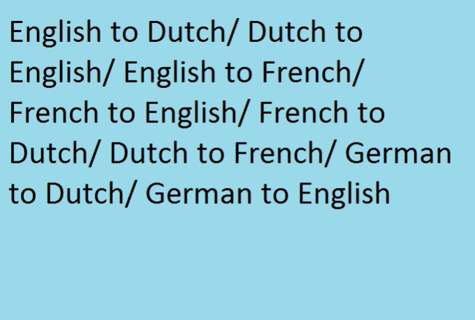 Translate French Into Dutch