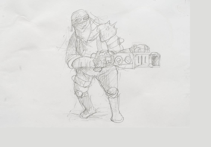 sketch a custom fantasy or scifi related character