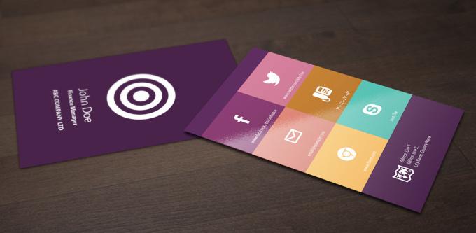 Design colorful flat business card fiverr for Fiverr business cards