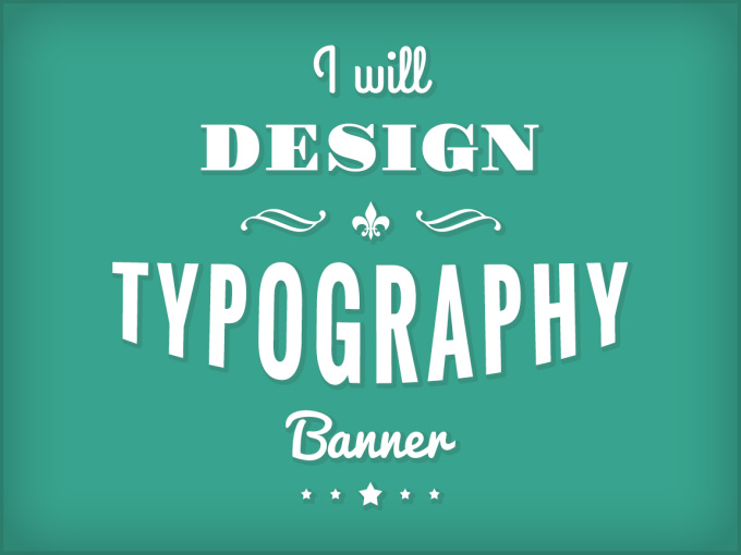 design a typography banner with flat simple style