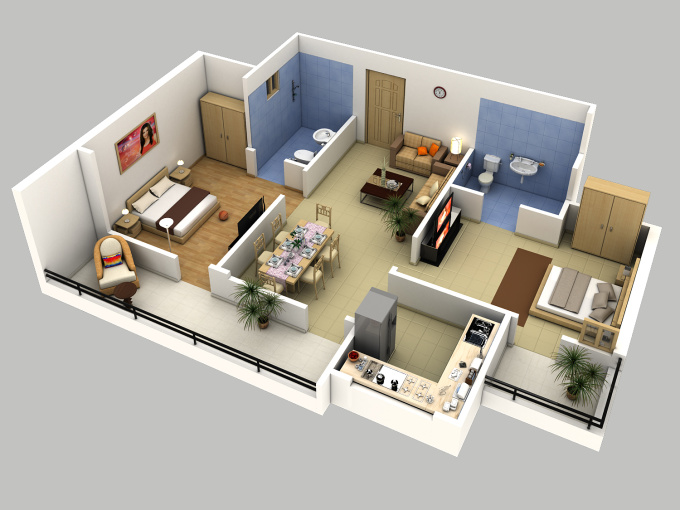 Creates 3d floor plan or model sketchup the fastest best for Turn floor plan into 3d model
