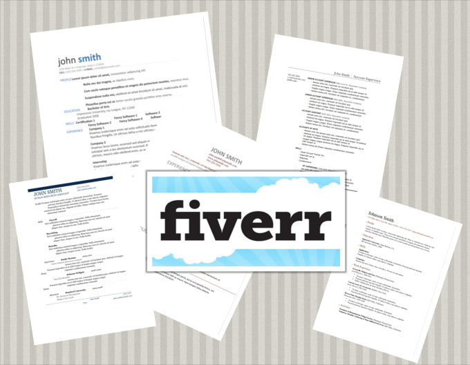 give you 6 resume layout templates fiverr