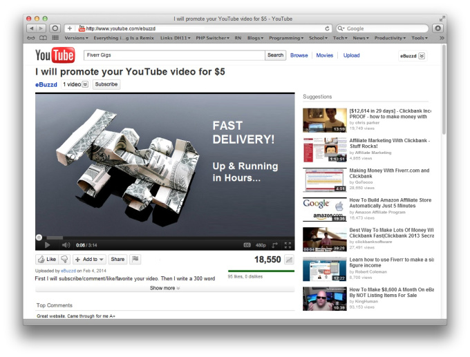 publish and promote your YouTube video on eBuzzd
