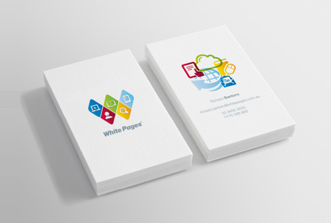 Design a minimal clean and modern business card fiverr for Fiverr business cards