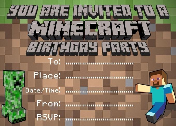 minecraft happy birthday card printable Quotes